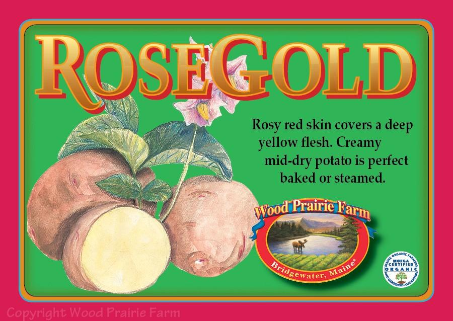 Certified Rose Gold Seed Potato