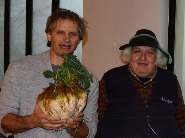 Ancient Giant Red Trentino Cabbage Turnip (Naone Rosse Antica Trentino)